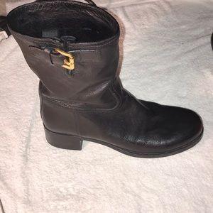 Prada Mid Calf Moto Styled   Boots